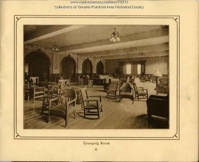 Lounging Room, Mechanics Institute, Rumford, 1911