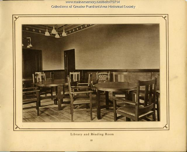 Library and Reading Room, Mechanics Institute, Rumford, 1911
