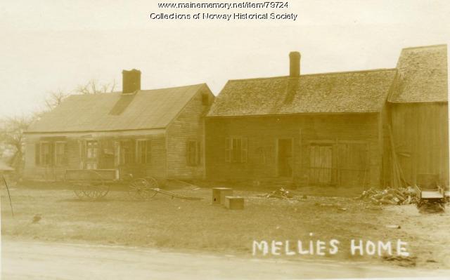 Mellie Dunham home, Crockett Ridge, Norway, ca. 1925