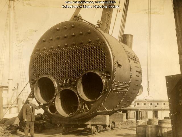 Marine boiler, Portland Company, ca. 1900