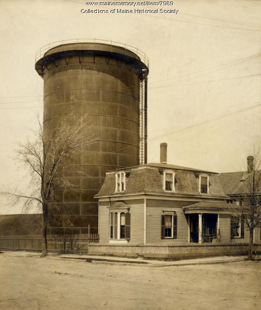 Metal water tank, Portland, ca. 1900