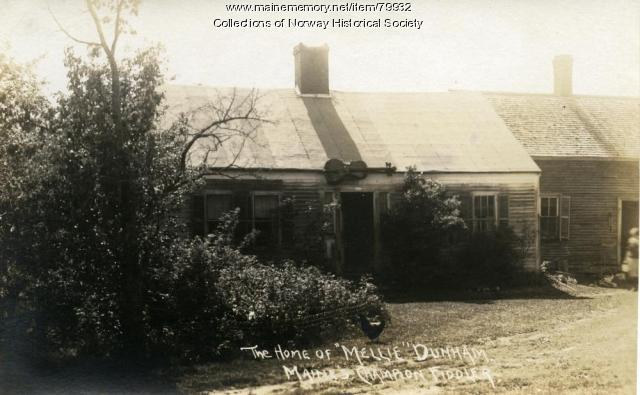 Mellie Dunham's homestead, Norway, ca. 1925