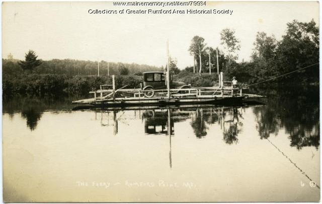 Rumford Point Ferry, Rumford, ca. 1900