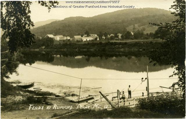 Rumford Point Ferry, ca. 1930
