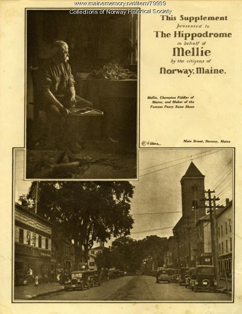 Flyer for Mellie Dunham's Hippodrome concert, New York, NY, 1926