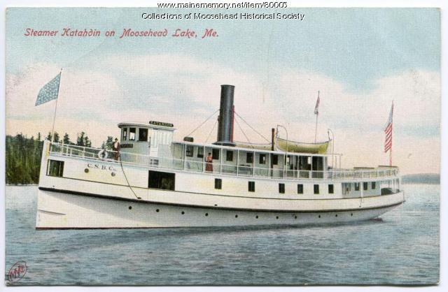 Steamer Katahdin on Moosehead Lake, ca. 1910