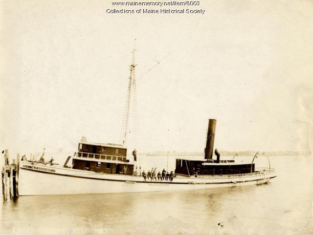 Menhaden steamer the Macomber, ca. 1900