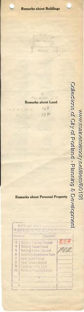 Assessor's Record, 36 Poland Street, Portland, 1924