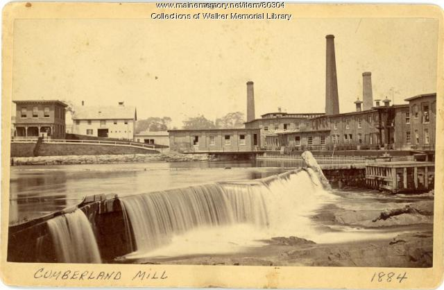 S. D. Warren Mill and dam, Westbrook, 1884