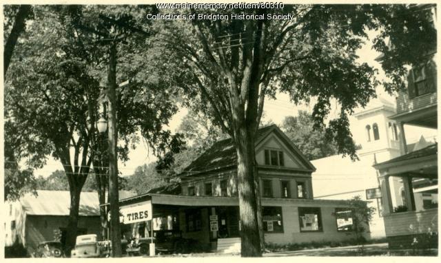 Socony Station, Main Street, Bridgton, ca. 1938