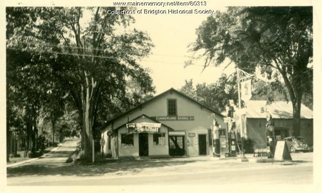 Socony Station alternate view, Main Street, Bridgton, ca. 1938