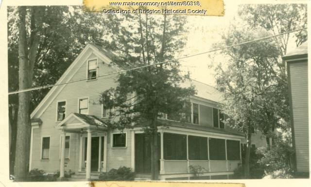 Hebb Residence, Main Street, Bridgton, ca. 1938
