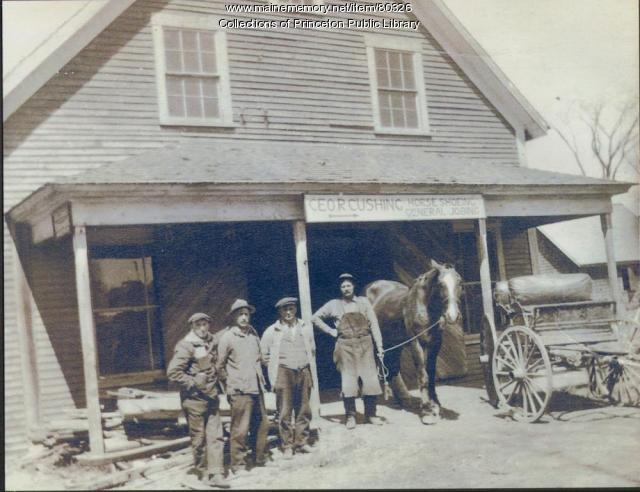 Cushing Blacksmith Shop, Princeton, ca. 1916