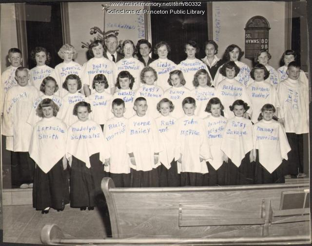 Congregational Church Choir, Princeton, ca. 1952
