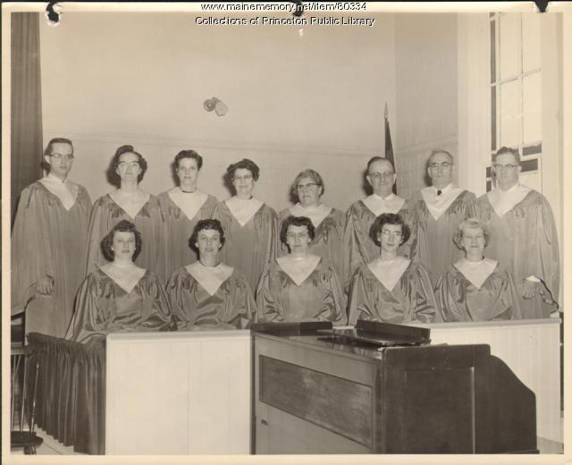 Baptist Church Choir, Princeton, ca. 1955