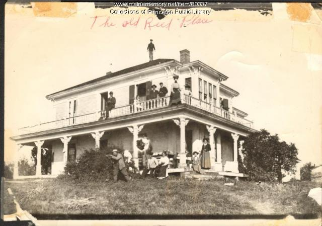 The Old Reed Place, Grand Lake Stream, ca. 1900