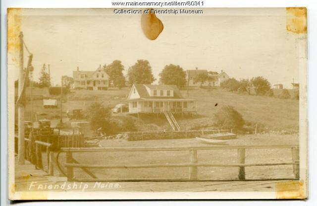 Sherman Jameson house next to the wharf, Friendship, ca. 1925