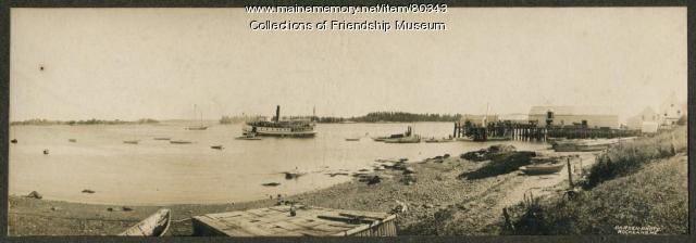 "The ""Mineola"" leaving the Jameson & Wotton Wharf, Friendship, ca. 1910"
