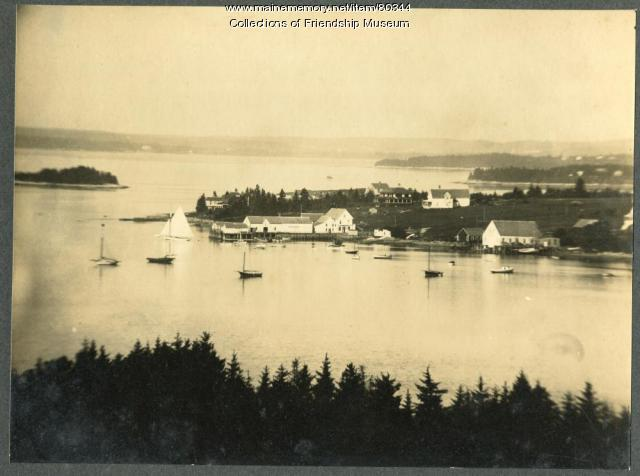 Aerial view of Davis Point, Friendship, ca.1920