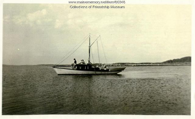 "The ""Foster D"" off shore, ca. 1910"