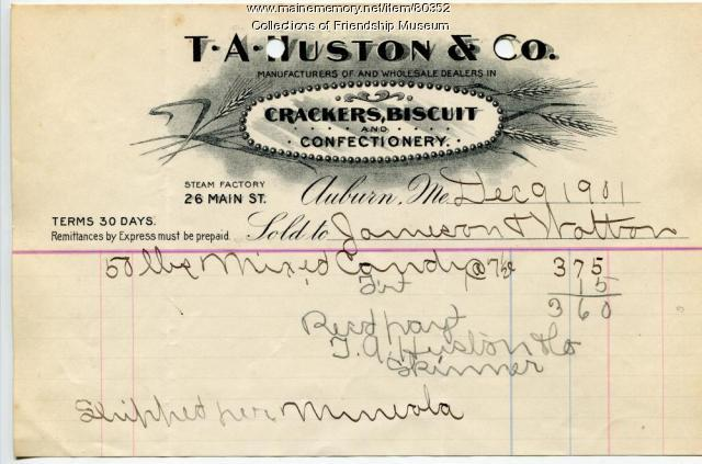 T.A.Huston & Co. invoice, 1901