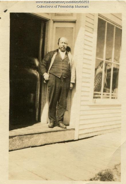 Walter Wotton at work, Friendship, ca. 1915