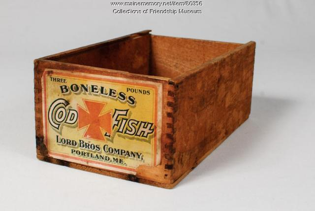 Boneless Cod Fish box, ca. 1910
