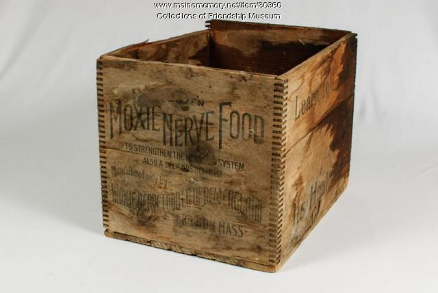 Moxie Nerve Food Shipping Box, ca. 1900