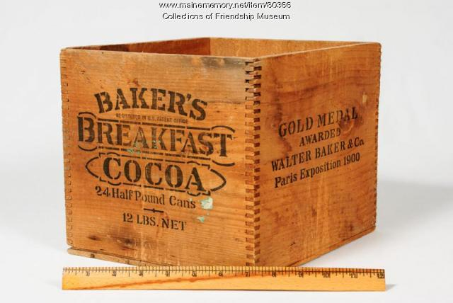 Bakers Breakfast Cocoa box, ca. 1910