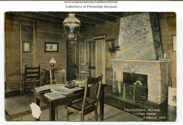 Argyle Inn living room, ca. 1910