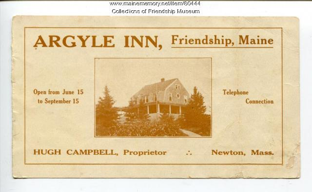 Argyle Inn brochure, ca. 1910