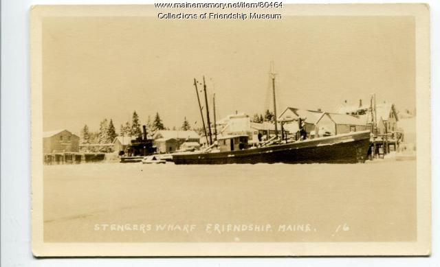 Stenger's wharf in winter, ca. 1934