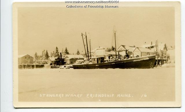 Stenger's wharf in winter, ca. 1934