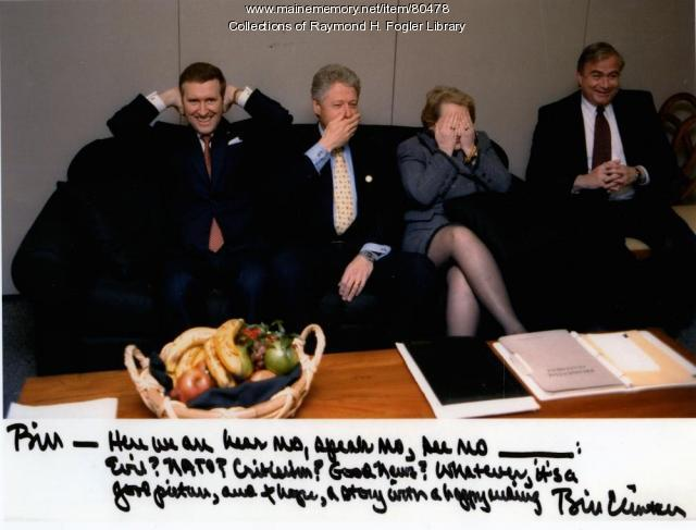 William S. Cohen With President Clinton and Secretary Albright, ca. 2000