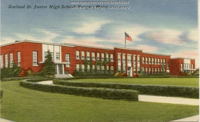 Garland Street Jr. High School, Bangor, ca. 1940