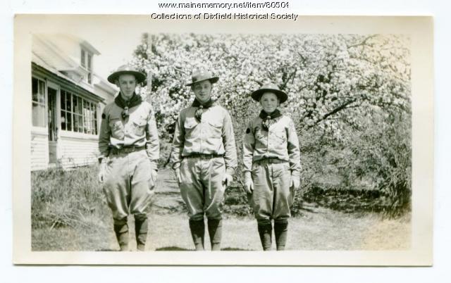 Dixfield Common Boy Scouts, 1938