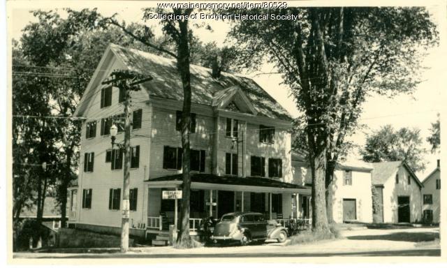 Highland Apartments, Main Street, Bridgton, ca. 1938