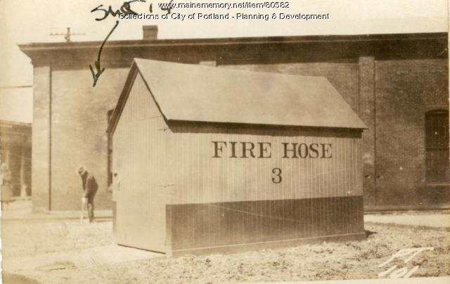 Hose Shanty, Thompsons Point, Portland, 1924
