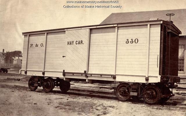 Portland & Ogdensburg RR Hay Car, ca. 1880s