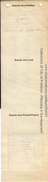 Assessor's Record, Hose Shanty, Thompsons Point, Portland, 1924