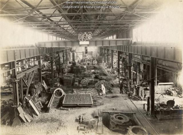 Erecting shop, Portland Co., ca. 1890