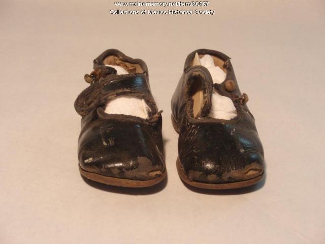John Edward Barry's baby Shoes, ca. 1920