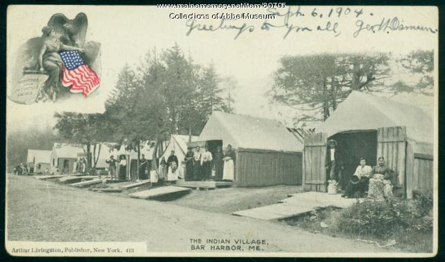 Wabanaki encampment, Bar Harbor, ca. 1890