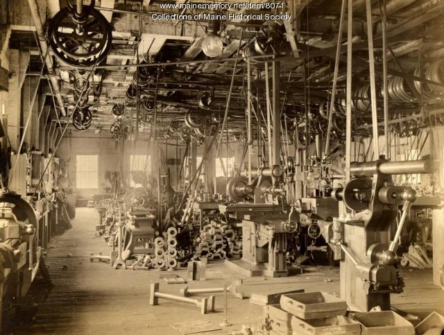 Machine shop, Portland Company, ca. 1890