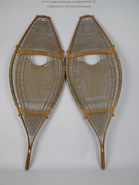 Penobscot snowshoes, ca. 1850