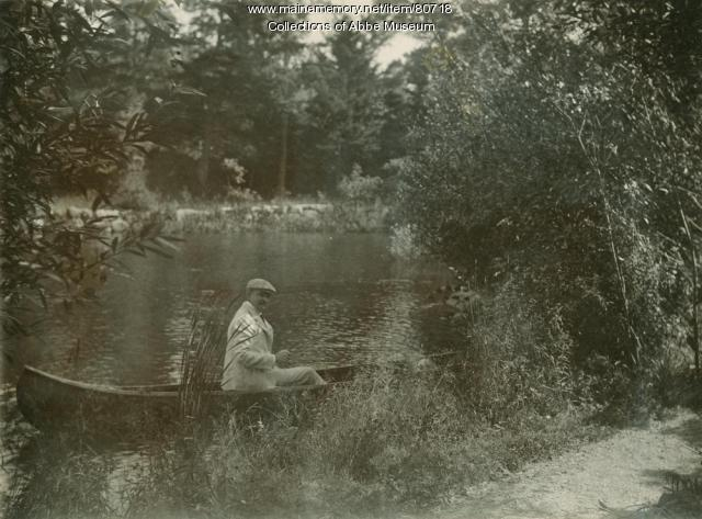Dr. Robert on Duck Brook, Bar Harbor, ca. 1920
