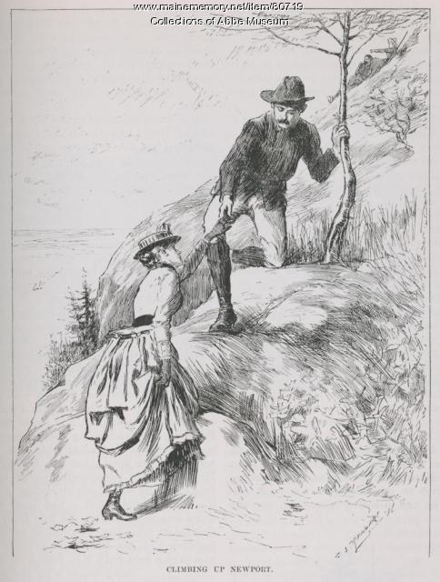Climbing Newport (Champlain) Mountain, 1886