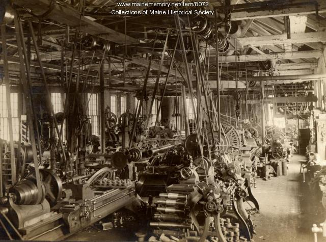 Machine shop, Portland Co., ca. 1890