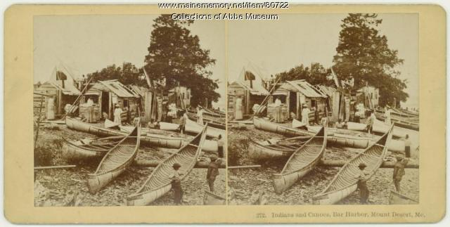 Indian encampment, Bar Harbor, 1881