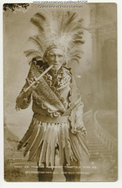 """Frank """"Big Thunder"""" Loring, ca. 1884"""